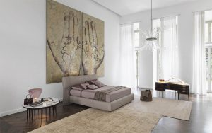 Flou letto matrimoniale Softwing
